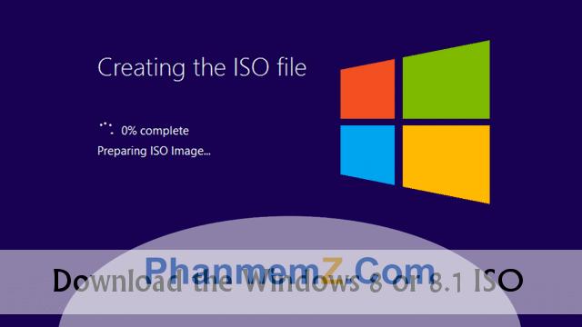 Download Windows 8.1 .iSO bản chuẩn cuối cùng năm 2016