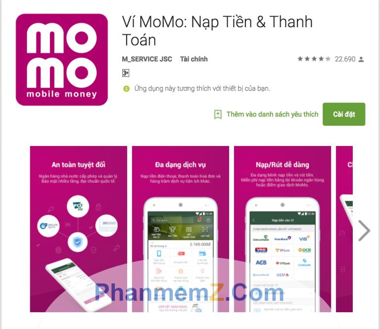 Bạn có thể tìm thấy phần mềm Momo trên các ứng dụng AppStore và Google Play
