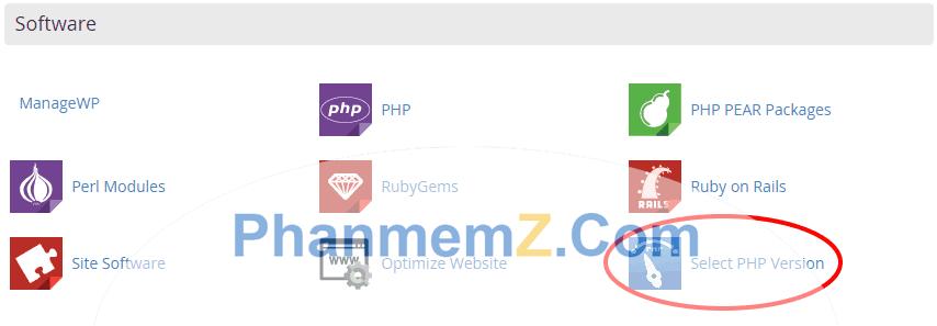 Việc thay đổi phiên bản PHP