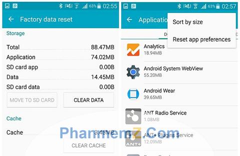 Xoá bộ nhớ đệm để giải phóng tốc độ điện thoại Android