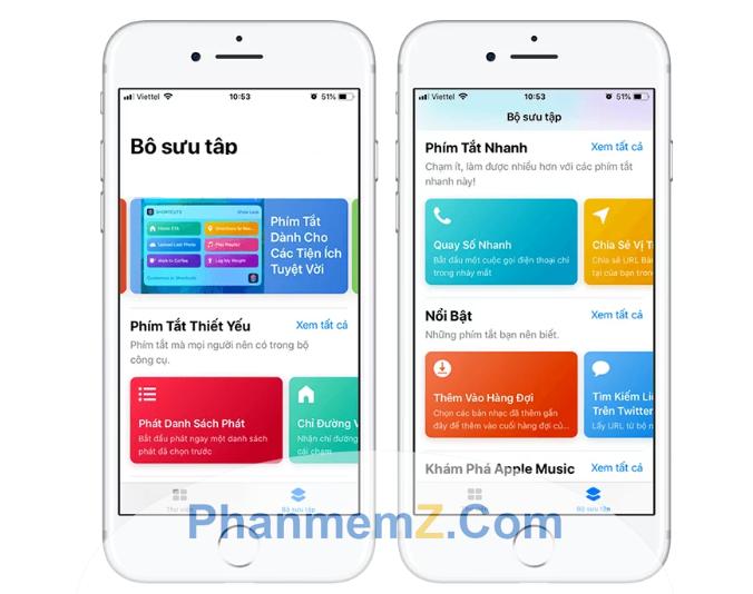 Phím tắt do người dùng tạo ra thường được chia sẻ qua iCloud