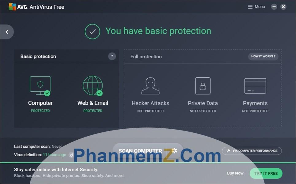 Download AVG Antivirus Free - Diệt Virus triệt để