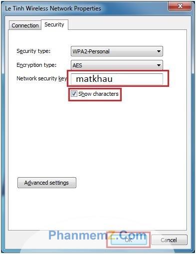Hiển thị mật khẩu cần xem