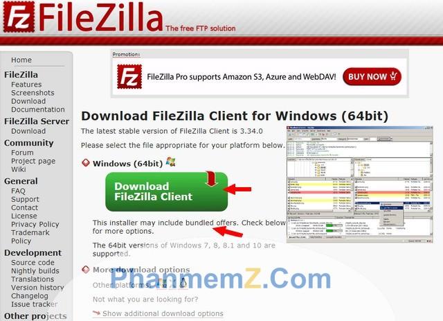 Hướng dẫn sử dụng phần mềm FileZilla