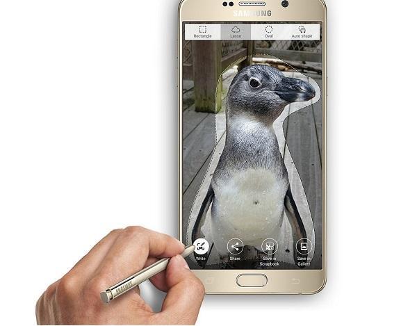 Điển hình cho cách chụp màn hình điện thoại này là dòng Samsung Galaxy Note
