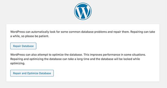 Sửa chữa lại cở sở dữ liệu của bạn